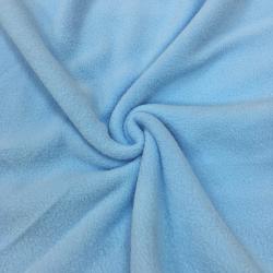 Флис однотонный, антипиллинг, 160 см, голубой цвет №3 (ОТРЕЗ 0.95м)