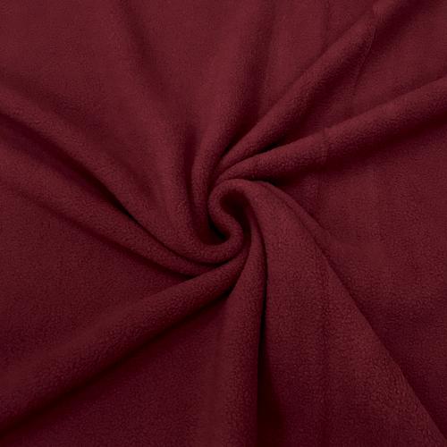 Флис однотонный, антипиллинг, 160 см, бордовый цвет №32
