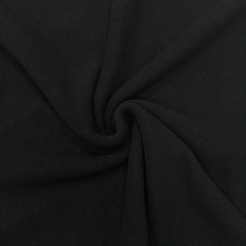 Флис однотонный, антипиллинг, 160 см, черный цвет №8
