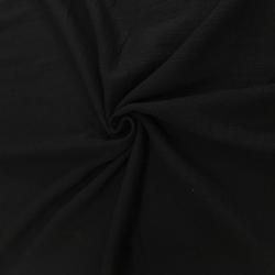 Муслин жатка, однотонный, 135см, черный, №24 (ОТРЕЗ 0.65 м)