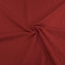 Муслин жатка, однотонный, 135см, красный, №9 (ДЕФЕКТ, ПЯТНА. ОТРЕЗ 1.2м)