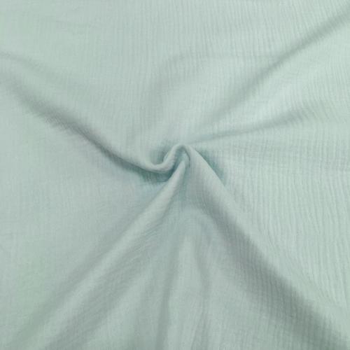 Муслин жатка-2, однотонный, 135см, светло-голубой