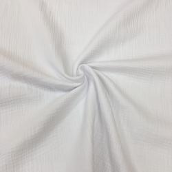 Муслин жатка, однотонный, 135см, белый цвет, №1 (ДЕФЕКТ, ОТРЕЗ 0.75м)