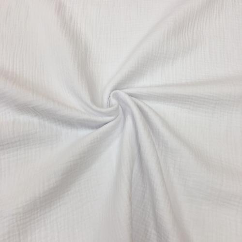 Муслин жатка, однотонный, 135см, белый цвет, №1