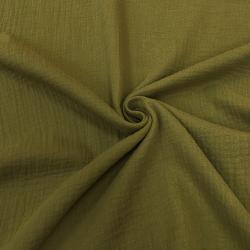 Муслин жатка, однотонный, 135 см, хаки, №52