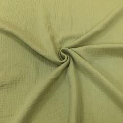 Муслин жатка, однотонный, 135 см, светло-зеленый, №45 (ОТРЕЗ 0.8м)