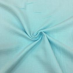 Муслин жатка, однотонный, 135см, небесно-голубой №43