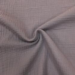 Муслин жатка, однотонный, 135см, пыльно-фиолетовый №56