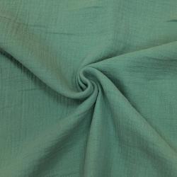 Муслин жатка, однотонный, 135см, яркий эвкалипт №57