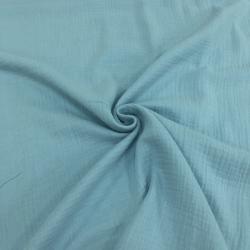 Муслин жатка, однотонный, 135см, голубой цвет №27