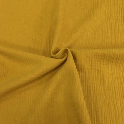 Муслин жатка, однотонный, 135см, горчичный цвет №36