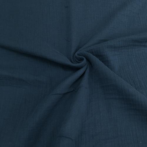 Муслин жатка, однотонный, 135см, темно-синий цвет №38