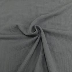 Муслин жатка, однотонный, 135см, серый №21