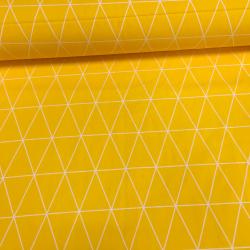 Сатин хлопок, 160 см, ромбики, желтый фон
