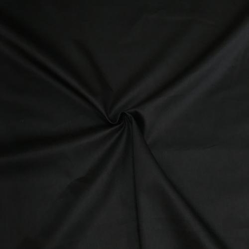 Сатин хлопок, 160 см, черный однотон