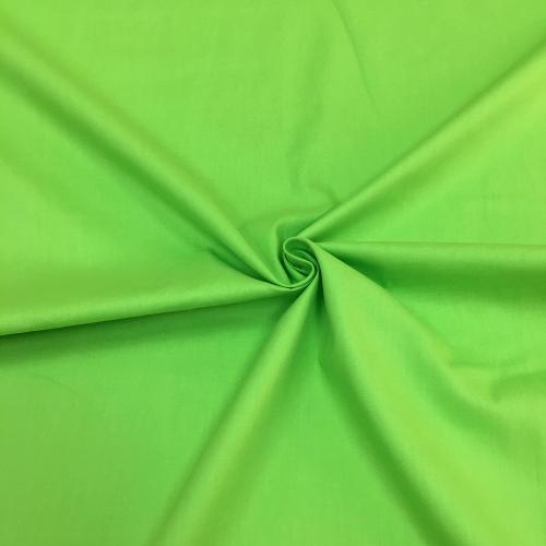 Сатин хлопок, 160 см, ярко-зеленый однотон №17