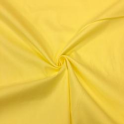 Сатин хлопок, 160 см, светло-желтый однотон №50