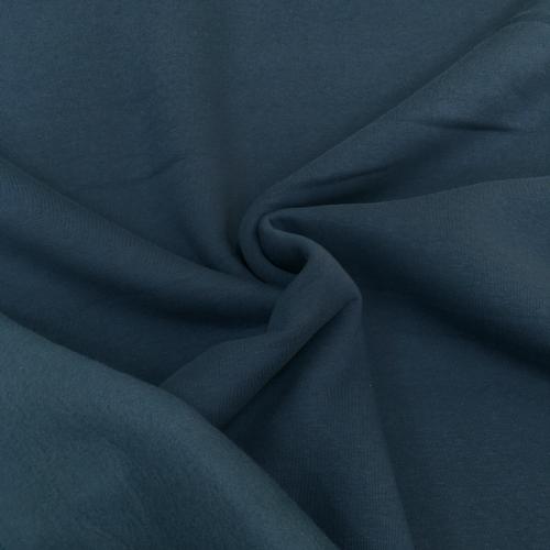 Футер 3-х нитка с начесом, цвет 20-01, синий, индиго