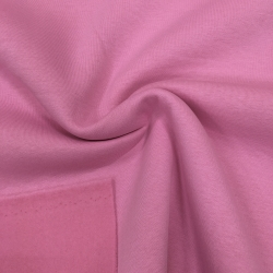 Футер 3-х нитка с начесом, цвет №1020, ярко-розовый