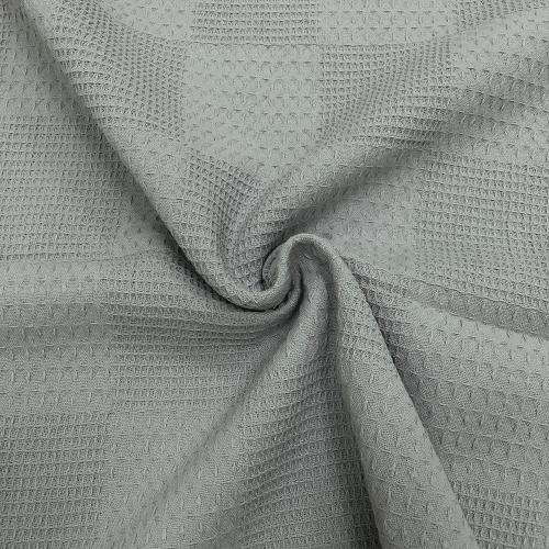 Вафельное пике, 240 см, светло-серый