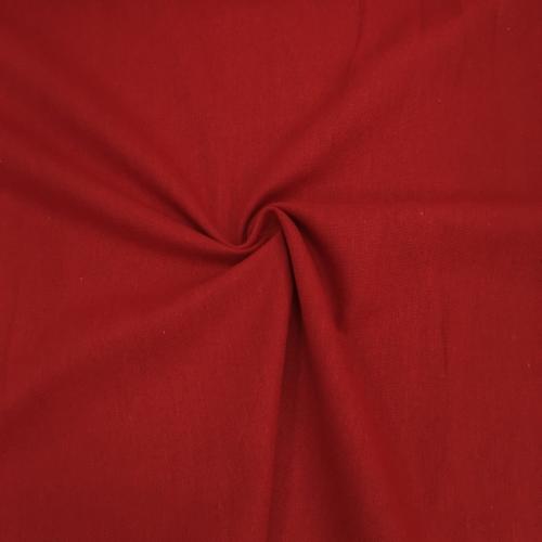 Полулён, 150 см, красный однотон №01