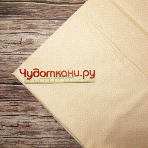 Ткань хлопок, 160 см, персиковый мелкий рисунок