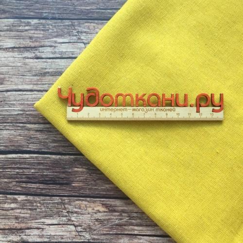 Полулён, 150 см, желтый однотон