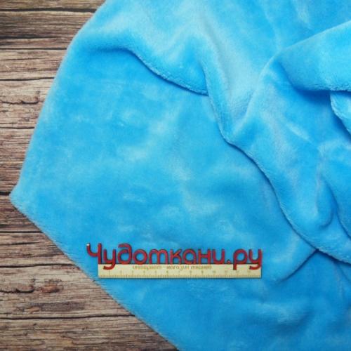 Велсофт короткий ворс, голубой №2