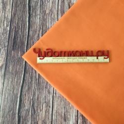 Сатин хлопок, 160 см, оранжевый однотон