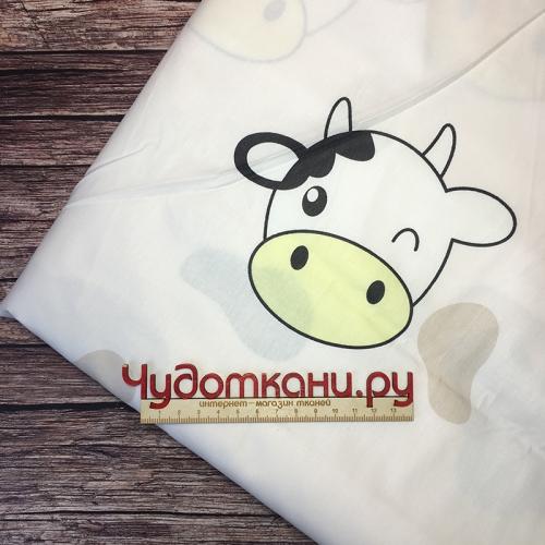 Ткань хлопок, 160 см, коровки с молоком