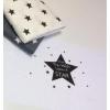 Купон на наволочку 60см*160см звезда, белый фон