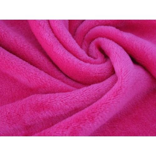 Плюш двусторонний, 160см, ярко-розовый