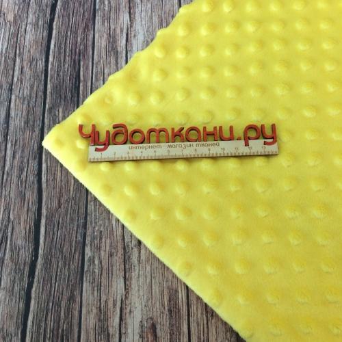 Плюш Minky Dots, 150 см, арт.D07 желтый