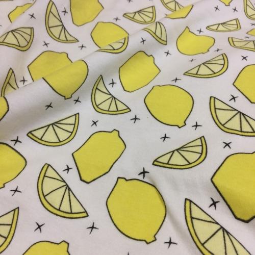 Интерлок, ширина 192 см, лимон