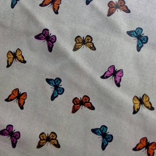 Полулён, 150 см, бабочки