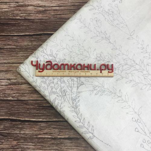 Ткань хлопок, 160 см, серая трава, серый фон
