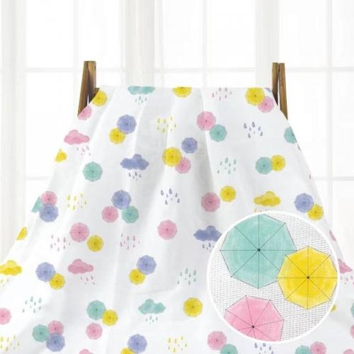 Муслин, 153 см, цветные зонтики