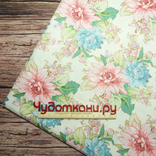 Ткань 160см 100%  х/б Китай арт.505 цветы