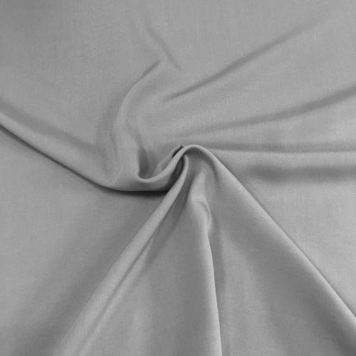 Штапель, 160 см, серый однотон