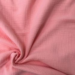 Муслин жатка, однотонный, 135см, коралловый цвет №8