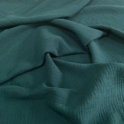 Муслин жатка, однотонный, 135см, темно-зеленый цвет №10 (ОТРЕЗ 0.75м)