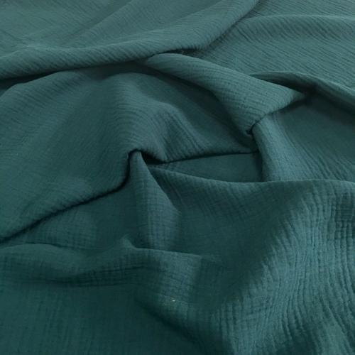 Муслин жатка, однотонный, 135см, темно-зеленый цвет №10