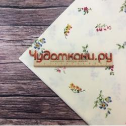 Сатин хлопок, 160 см, мелкие цветы B0181-B, светлый фон