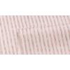 Сатин хлопок, 160 см, частая коричневая полоса, белый фон