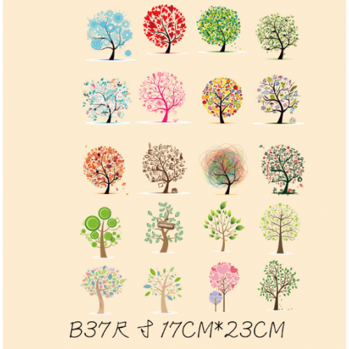 Термотрансфер, 17 см*23 см деревья