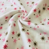 Муслин, 125 см, розовые и коричневые звездочки