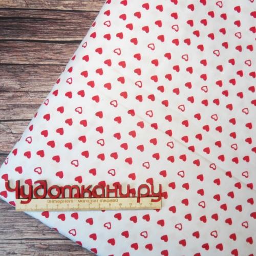 Ткань хлопок, 160 см, мелкие сердечки