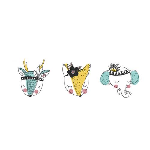 Термотрансфер, олень, лиса, слоник