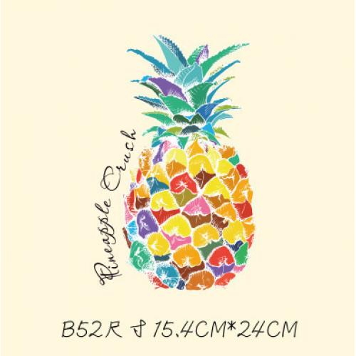 Термотрансфер,  15,4 *24 см ананас