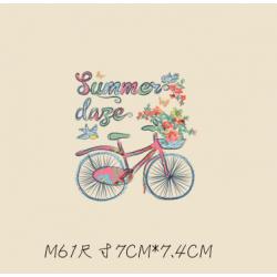 Термотрансфер, 7 см *7.4 см велосипед Summer day